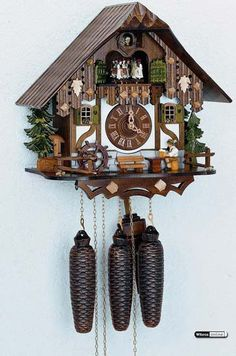 I absolutely love cuckoo clocks (so delicate and so quirky!), but can never remember to wind my 1-day movement clock. Someday I'd love to splurge on an 8-day clock like this one.