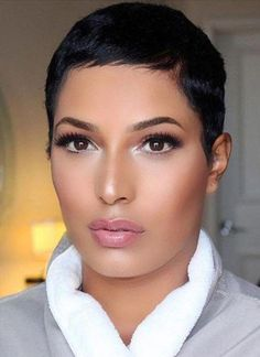 Fabulous natural black hairstyles - All For Hairstyles Love Hair, Great Hair, Gorgeous Hair, Short Pixie Haircuts, Short Black Hairstyles, Hairstyles Men, Short Sassy Hair, Short Hair Cuts, Pixie Cuts