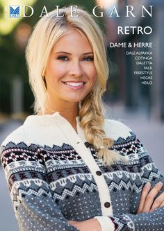 Ravelry: Dale of Norway / Dalegarn Dame & Herre Retro - patterns Cardigan Design, Cardigan Pattern, Knitting Charts, Knitting Patterns, Knitting Ideas, Norwegian Knitting, Retro Pattern, Fair Isle Knitting, Fashion Today