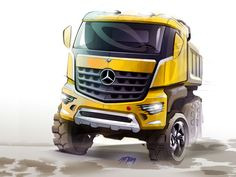Mercedes-Benz Arocs Design Sketch