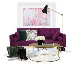 """""""Jonathan Adler floor lamp..."""" by gloriettequartet ❤ liked on Polyvore featuring interior, interiors, interior design, home, home decor, interior decorating, Jonathan Adler, Andrew Martin, Hervé Gambs and Aspinal of London"""