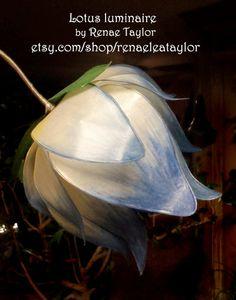 Light Blue Standard Lotus Luminaire Lamp by by renaeleataylor, $125.00