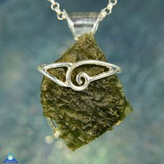 One of a Kind Sterling Silver Moldavite by ArkadianCollection