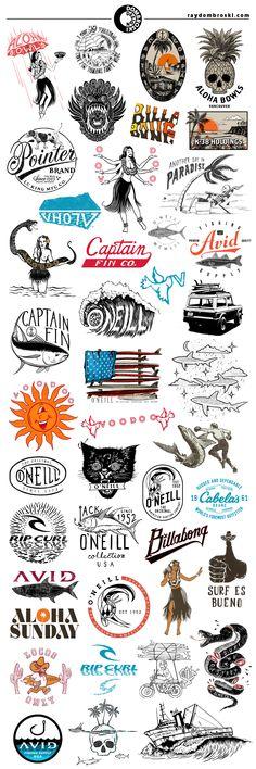 Ray Dombroski Graphic Design Portfolio - Logos, Lettering and T-Shirt Designs http://www.raydombroski.com/