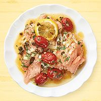 Salmon with Tomatoes & Capers