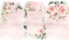 Pretty watercolour rose tags for youto print from Shabby Art Boutique Printable Frames, Pink Trees, Bday Cards, Graduation Party Decor, Art Clipart, Watercolor Rose, Free Prints, Flower Frame, Gift Tags