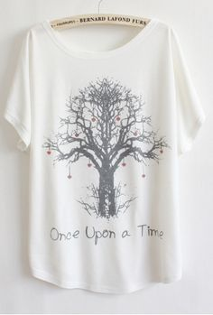Stay comfortable in this unique Once Upon A Time T-Shirt. - One size fits all - bust : 110-120cm length : 68cm - Loose fit for casual look and maximum comfort