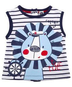 Shirt Löwe Streifen blau/weiß von tuc tuc