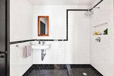 Diy Bathroom Remodel, Bathroom Renovations, Restroom Remodel, Shower Remodel, Big Shower, Open Showers, Bathroom Goals, Bathroom Ideas, 1950s Bathroom
