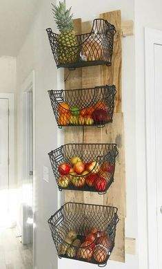 # diy # kitchen # storage # space # organization About How to Build a DIY Wall Mounted Fruit & Veggies Holder! Pin You can easily use my