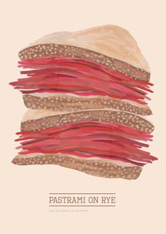 Pastrami on Rye Art Print