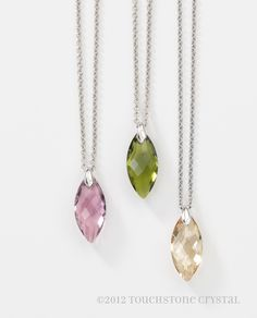Navette Crystal Necklaces