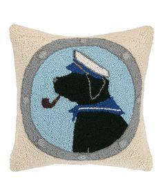 $34.99  Beach Dog Hooked Throw Pillow #zulilyfinds