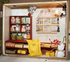 Grocery shop Miniature Houses, Bookcase, Shelves, Shop, Home Decor, Shelving, Decoration Home, Room Decor, Book Shelves