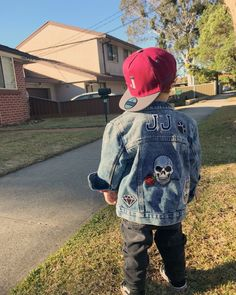 Saint + Soldier - Custom Made Personalised Denim Jackets with Patches Denim Jacket Patches, Denim Jackets, Saints And Soldiers, Customised Denim Jacket, Baby Girl Jackets, Little Fashion, Basic Outfits, Project Ideas, Babys