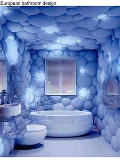 Creative European bathroom design