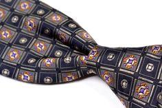 "ROBERT TALBOTT Best Of Class Blue Gray Geometric Woven Silk Mens Tie - 3.875"" #RobertTalbott #NeckTie"