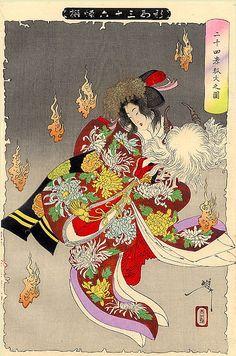 Yoshitoshi The Foxfires by timtak, via Flickr