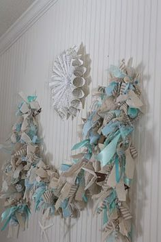 """ The Shabby Creek Cottage "" - Farmhouse & Cottage DIY & Design Blog: Make Your Own: Lighted Raggamuffin Garland"