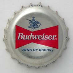 Budweiser Bottle Cap Beer Bottle Caps, Bottle Cap Art, Beer Caps, Beer Bottles, Budweiser Commercial, Beer 101, License Plates, Happy Hour, Cheers