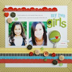 layout inspiration, love the buttons, Laura Vegas's super cute layout using Bella Blvd.