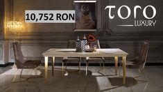 Diningul Nerio este o frumusețe ce combina culorile bronz și auriu intr-un lux modern și poate fi comandat din Showroom-ul #TORO Luxury, Bd. Pipera 200A.  Rezervari si comenzi: 0746 661 384   Pret:  1 masa + 6 scaune: 10.752 lei Lei, Showroom, Dining Table, Luxury, Modern, Furniture, Home Decor, Homemade Home Decor, Trendy Tree