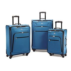 American Tourister Pop Plus 3 Piece Set Blue >>> This is an Amazon Affiliate link. Click image to review more details.