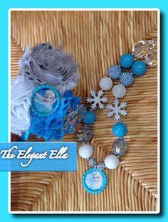 FROZEN set necklace and headband by TheElegantElla on Etsy, $30.00