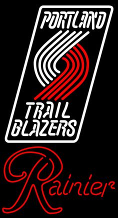 Rainier Portland Trail Blazers NBA Neon Beer Sign, Rainier with NBA | Beer with Sports Signs. Makes a great gift. High impact, eye catching, real glass tube neon sign. In stock. Ships in 5 days or less. Brand New Indoor Neon Sign. Neon Tube thickness is 9MM. All Neon Signs have 1 year warranty and 0% breakage guarantee.