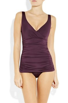 Karla Colletto ruched underwired swimsuit - $285