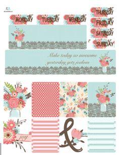 Choose Joy Weekly Planner Sticker Kit/ Weekly Planner Kit/ Vertical Weekly Planner Kit/ Erin Condren Weekly Planner Kit by TasseledPlanner on Etsy