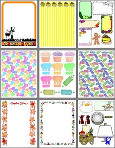 Food & recipe scrapbook pages to print for heritage recipe scrapbooks
