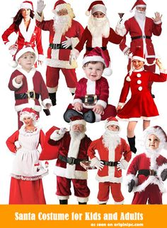 Best Santa Costume for Kids and Adults 2014 Chirstmas Santa Costume Ideas Cool Costumes, Adult Costumes, Costume Ideas, Halloween Costumes, Christmas Fancy Dress, Merry Christmas, Christmas Gifts, Santa Costume, Mrs Claus