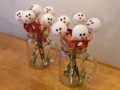 Organize and Decorate Everything: Snowman pencil toppers