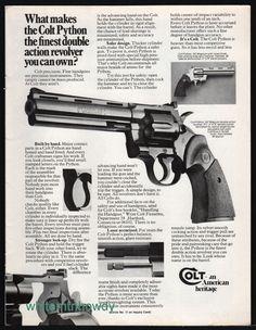 """1977 COLT PYTHON .357 6"""" Barrel Revolver PRINT AD : Other Collectibles at GunBroker.com"""