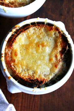 Made with little more than water, onions, bread and cheese, this French onion soup is the purest, most oniony, most delicious French Onion soup I have ever made. // alexandracooks.com