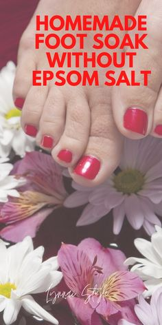 Most people don't like using Epsom salt for their foot.  Hence this DIY foot soak is without Epsom salt. It's easy to make and less pricey. Besides, it will give you a sweet feeling of doing your own mini-pedicure at home Homemade Foot Soaks, Diy Foot Soak, Ayurvedic Hair Oil, Pedicure At Home, Acne And Pimples, Herbs For Health, Hair Growth Oil, Skin Care Treatments, Epsom Salt