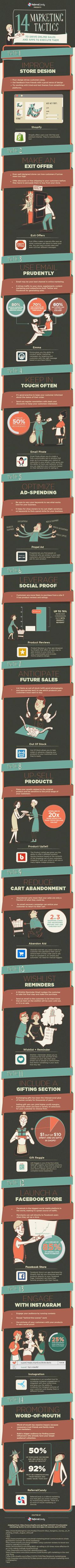 14 Marketing Tactics to Drive Online Sales [Infographic]: Are you using the right marketing tactics to drive online sales for your business? This infographic provides you with he information you need. Small Business Marketing, Marketing And Advertising, Internet Marketing, Online Marketing, Social Media Marketing, Online Business, Content Marketing, Marketing Articles, Marketing Ideas