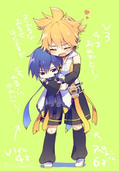 KAITO y Len Creds by しなお @Pixiv