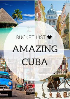 A must-see destination must be Cuba! Cuba's unique history has left it somewhat paralyzed in time and walking around Havana or Trinidad is a truly unique experience for any visitor. #travel #Cuba #wanderlust