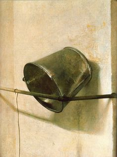 Andrew Wyeth 'Spring Fed' (detail) 1967  tempera, Chadd's Ford, PA