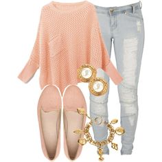 A fashion look from June 2013 featuring Lee jeans, Witchery loafers and Chanel bracelets. Browse and shop related looks. Fall Winter Outfits, Autumn Winter Fashion, Spring Outfits, Fall Fashion, Teen Fashion, Fashion Outfits, Womens Fashion, Casual Outfits, Cute Outfits
