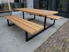 Picknicktafel model 1 metalen stalen onderstel frame