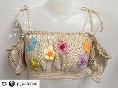 Crochet Bikini Top, Knit Crochet, Knitting Patterns, Crochet Patterns, Crochet Poncho, Crochet Fashion, Crochet Crafts, Crochet Clothes, Lana