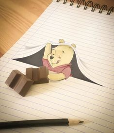 Italian Artist Brings Famous Disney Characters to Life Luigi Kemo Volo is an Italian illustrator who makes drawings of Disney characters and integrate 3d Art Drawing, Cool Art Drawings, Pencil Art Drawings, Art Drawings Sketches, Cartoon Drawings, Easy Drawings, Disney Character Drawings, Cute Disney Drawings, Disney Characters