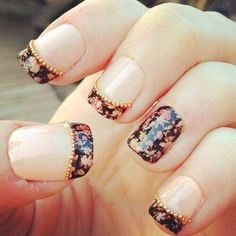 90 Brilliant Folwer Nail Art Ideas For Your Pretty Nails Check more at http://lucky-bella.com/brilliant-flower-nail-art-ideas/