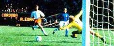 Italy 1 Holland 2 in 1978 in Buenos Aires. Ernie Brandts scores a own goal on 18 minutes and its 1-0 Italy in Round 2, Group A at the World Cup Finals.
