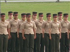 Female Marines, During the best day of  my life.MY  Military  Graduation.