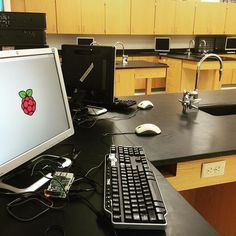 #raspberrypi science lab! Oh yeah! Gone are the days of changing over our computers to work with pi! We have our very own room for pi now!! #newschoolyear #nmssteam