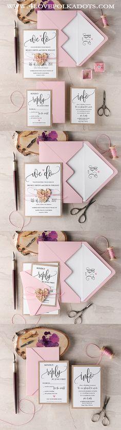 We Do Rustic Boho Wedding Invitations #weddingideas